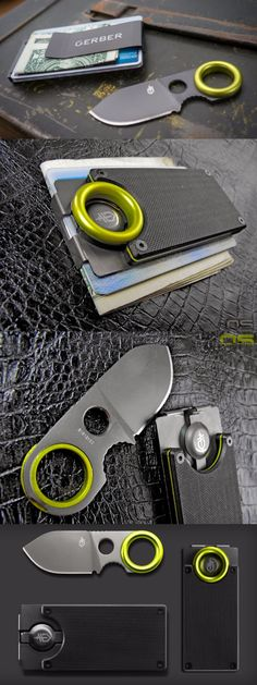 Gerber GDC Money Clip - edc everyday carry money clip with knife @aegisgears