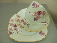 Royal Albert Crown China Vintage Tea Trio,Cup,Saucer