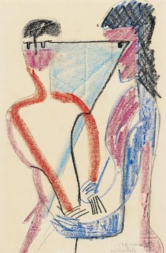 Ernst Ludwig Kirchner.  Selbstkontrolle, 1928