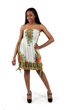 Traditional 2-IN-1 Dashiki Dress/Top - 8 Colors