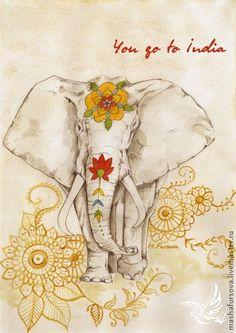 Indian Elephant ~ Masha Fursova