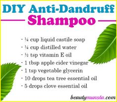 DIY Anti-Dandruff Shampoo with Tea Tree Oil. I would not put the glycerin in it … DIY Anti-Dandruff Shampoo with Tea Tree Oil. I would not put the glycerin in it though. Oils For Dandruff, Dandruff Remedy, Anti Dandruff Shampoo, Diy Shampoo, Homemade Shampoo And Conditioner, Hair Dandruff, Hair Remedies, Shampoo Bar, Natural Remedies