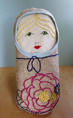 embroidered nesting doll