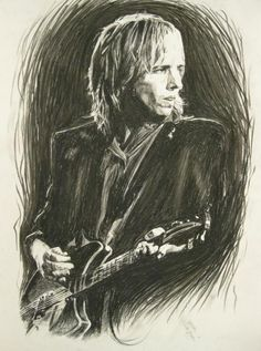 Tom Petty 1 Wood Print by Michael Morgan. All wood prints are professionally printed, packaged, and shipped within 3 - 4 business days and delivered ready-to-hang on your wall. Tom Petty Music, Owl Photos, Travel Music, Wood Print, Rock Art, Rock N Roll, Toms, Drawings, Artwork