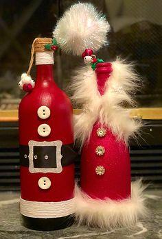 23 Ideas For Craft Christmas Diy Wine Bottle Diy Wine Bottle Crafts diy wine bottle crafts Glass Bottle Crafts, Wine Bottle Art, Painted Wine Bottles, Diy Bottle, Decorated Wine Bottles, Empty Bottles, Wine Bottles Decor, Wine Bottle Decorations, Altered Bottles