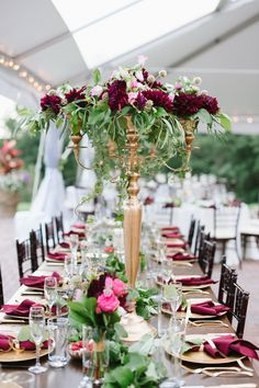 Burgundy wedding decorations 30 elegant fall burgundy and gold wedding ideas deer pearl flowers Wedding Reception Flowers, Fall Wedding Colors, Autumn Wedding, Wedding Table, Wedding Ideas, Elegant Wedding, Luxury Wedding, Reception Table, Wedding Blog