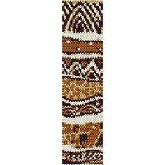 Instant Download Beading Pattern Peyote Stitch Bracelet Wild Safari Print Seed Bead Cuff on Etsy, $3.00