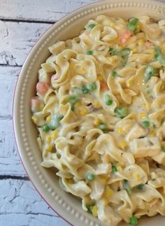 Chicken Noodle Casserole is the perfect comfort food to make when you are down with the cold or flu.