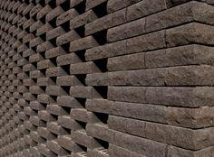 Appareillages et techniques de maçonnerie originales.   Terca Mazaruni Zwart Zand  Atelier d'Architecture Pierre Hebbelinck sa, Liège