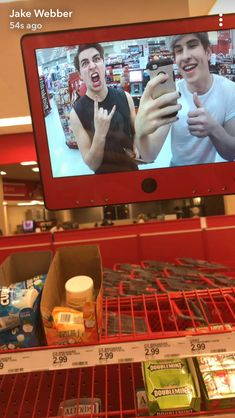 Oh my God  that's something I would do all the time when I'm at target Colby Brock, Sam And Colby, Aaron Doh, Jake Weber, Colby Cheese, Room Mates, Celebrity Memes, Youtubers, Bad Boys
