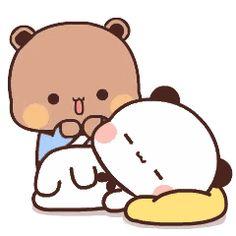 Cute Anime Cat, Cute Bunny Cartoon, Cute Cartoon Pictures, Cute Love Pictures, Cute Images, Cartoon Love Quotes, Gif Kawaii, Images Kawaii, Cute Love Memes