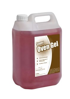 Super Oven Gel is a commercial strength oven cleaner, degreaser and decarboniser for commercial cooking equiptment. Can be used as a gel for heavily soiled surfaces or diluted and applied via a trigger spray for regular maintenance.