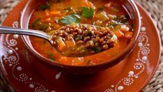 Sopa de lentejas (Chorba Dial Eadas) - Najat Kaanache - Receta - Canal Cocina Thai Red Curry, Chili, Yummy Food, Yummy Recipes, Health, Ethnic Recipes, Sign, Google, Gastronomia