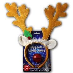 Reindeer Antlers & Light-up Blinking Flashing Nose - One Size Fits All This Christmas Season | Price : $10.95
