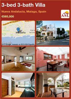 3-bed 3-bath Villa in Nueva Andalucia, Malaga, Spain ►€585,000 #PropertyForSaleInSpain