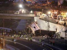 Ein schweres Eisenbahnunglück im Nordwesten Spaniens hat mehr als 30 Fahrgäste eines Schnellzuges in den Tod gerissen.