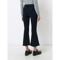 Shop Frame Denim Kickflare Cropped Jeans at Modalist | M0024000231445 ($226) ❤ liked on Polyvore featuring jeans and cropped jeans