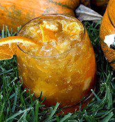 Smashing Pumpkin Drink with Bourbon and Grand Marnier...mmmm