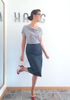 Burda panel skirt by tiz