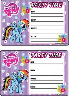 {free} printable My Little Pony Invitation 2