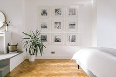 Gallery Wall Using Square Ikea Frames Rock My Style, Style Uk, Asos Home, Küchen Design, Interior Design, Gallery Wall Frames, Ikea Gallery Wall, Ikea Frames, Ikea Black Frames