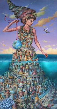 Surrealism Painting, Pop Surrealism, High School Art Projects, Surreal Artwork, Magic Realism, Water Art, Weird Art, Mural Art, Fantastic Art