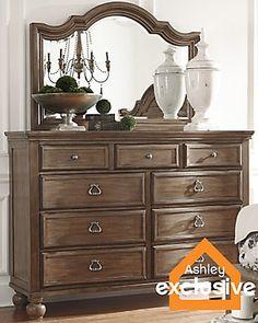 Tanshire Dresser and Mirror