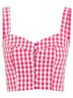 Red Square neck Gingham Casual Ruffled Lace up Top Curvy Outfits, Cool Outfits, Fashion Outfits, Vintage Mode, Latest Outfits, Fashion Sewing, Indian Designer Wear, Saree Blouse Designs, Cute Tops