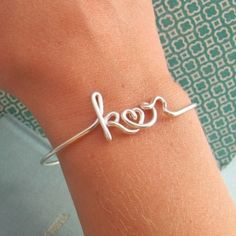Cute bracelet with your name and spouse initials