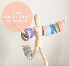 An Idea For Storing Your Washi Tape! #storage #washi #tape #fun