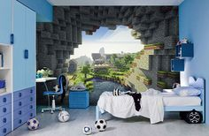 """Minecraft Bedroom Ideas for Boys enderman 