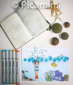 From Sketchbook to drawing Under the Sea by Picamimi
