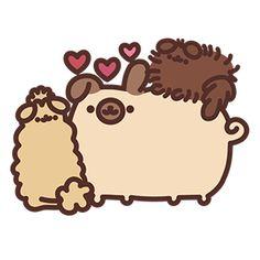 Pusheen Stickers, Cartoon Stickers, Pusheen Love, Pusheen Cat, Pusheen Unicorn, Diy Best Friend Gifts, Funny Doodles, Cute Kawaii Animals, Nyan Cat