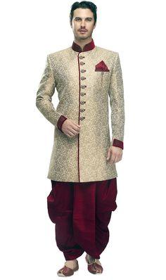 New Mens Golden Designer Prince Wedding Coat Indo Western Best Indian Wedding Dresses, Couple Wedding Dress, Wedding Coat, Manyavar Sherwani, Indian Groom Dress, Indian Wear, Sherwani For Men Wedding, Mens Ethnic Wear, Indian Men Fashion