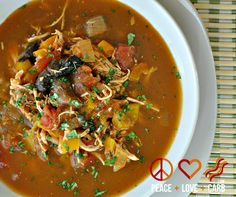 Peace, Love, and Low Carb: Chicken Fajita Soup - Low Carb, Paleo, Gluten Free