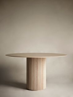 Palais Royal Dining Table - White Stained Oak Base and Top Circular Dining Table, Dining Table Design, Modern Dining Table, White Round Dining Table, Table Furniture, Furniture Design, Royal Table, Oak Panels, Design Hotel