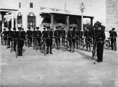 Unidad de bicicletas de la Policia Municipal de Valencia.
