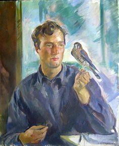 """Alice Kent Stoddard 1941 """"Boy With Hawk"""""""