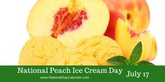 National Peach Ice Cream Day on July sweetens the day with a few scoops during the peak of peach season. Peach Ice Cream Recipe, Ice Cream Day, Ice Cream Maker, Ice Cream Recipes, Recipe For I Don't Know, National Holidays, National Days, Wacky Holidays, Eat A Peach