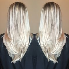 Balayage blonde bright beachy summer hair