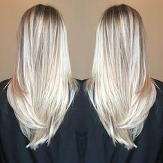 Balayage blonde bright beachy summer hair