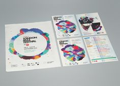 LONDON JAZZ FESTIVAL by John Gilsenan. I love bright colors and this design pulled me in. I like how the content page has also incorporated the colors, which are also seen throughout the brochure in the specific sections that coordinate with the content page. The type is simple and easy to read. You can easily identify what the brochure is made for.