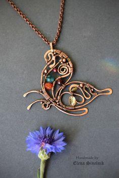 Deze vind ik magnifiek! Een prachtige vlinderhanger