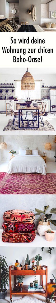 Gemütlich und elegant zugleich! Der Boho-Stil ist unglaublich beliebt und lässt sich ganz easy nachstylen.