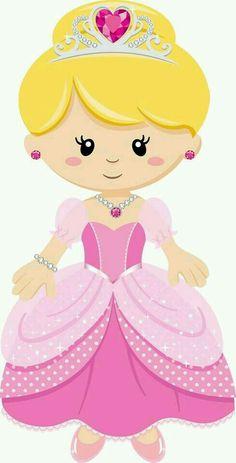 Minus princesa Girl Clipart, Cute Clipart, Princess Party, Little Princess, Cute Images, Cute Pictures, Kawaii, Disney Scrapbook, Scrapbooking