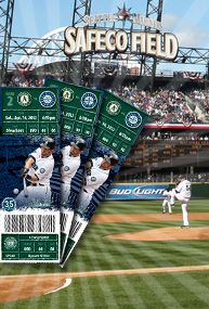 Mariners tickets! A prized possession!
