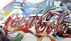 """""""Coca-Cola Landscape"""" oil painting by Taylor Williams. #college #art #painting"""