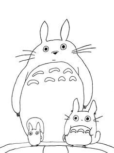 Totoro   Coloring Pages   Pinterest   Totoro and Planners