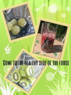 Come to the healthy side of the force Kiwi, Heidelbeer, Limetten Smoothie Healthy Sides, Healthy Food, Healthy Recipes, Kiwi, Smoothie, Lunch Box, Health Recipes, Smoothies, Healthy Side Dishes
