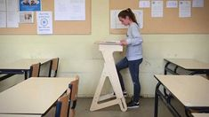 Furniture to make you feel better. The first height-adjustable wooden standing desk that also works for children. Desk, Children, Smoking, Age, Furniture, Youtube, Home Decor, Young Children, Desktop